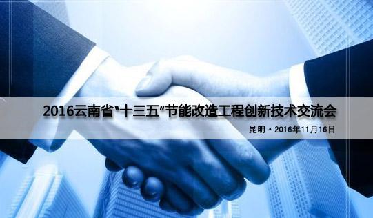 """云南省""""十三五""""节能重点工程创新技术交流会"""